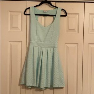 Light teal mini dress, worn once. From PacSun